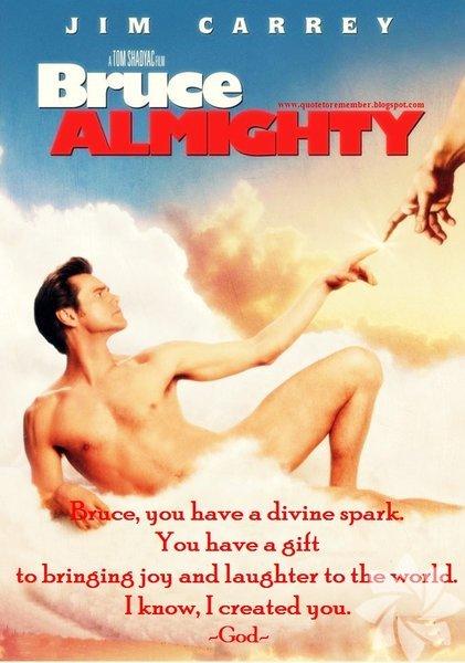 1. Bruce Almighty (Aman Tanrım!) İlk önerimiz Jim Carrey'in popüler filmi. Filmde canlandırdığı karakter Tanrı'nın ona kötü şans bahşederek cezalandırdığını düşünüyor. Durumdan sürekli şikayet ediyor. Sonunda klişe denilebilecek senaryo gereği bir günlüğüne kendisi Tanrı oluyor ve tüm problemlerle başa çıkmaya çalışıyor. Komik de olsa akılda kalıcı ders ise hayatın zor olduğu gerçeği ama kişisel bir durum mevzu bahis değil, bu herkes için geçerli.