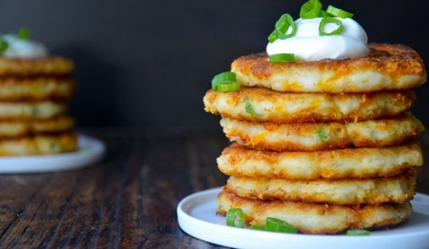 Patatesli ve tulum peynirli pankek tarifi