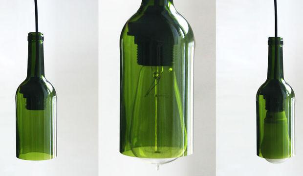 Şarap şişesinden lamba yapın!
