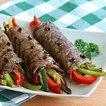 Balzamik sos ile sırlanmış biftek rulosu