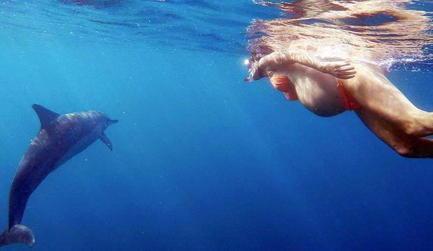 Dorina Rosin denizde doğum yapacak!