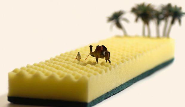 Minyatür insanların hayatına göz atın