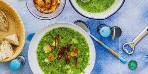Patatesli sarımsaklı çorba