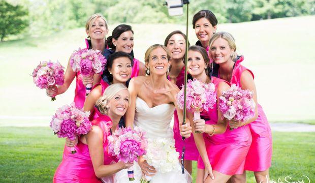 Gelinlere özel selfie çubuğu!