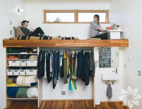 Küçük odalar için fikirler