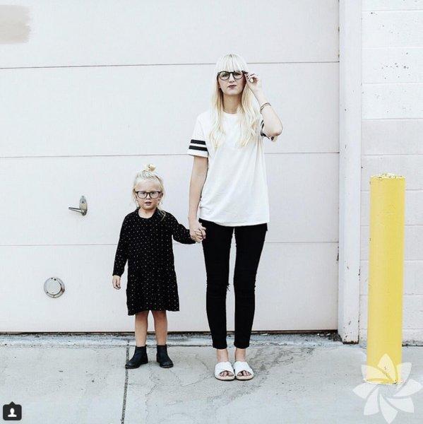 Rylee, tarzı ile Instagram'ın fenomeni ve henüz 4 yaşında.