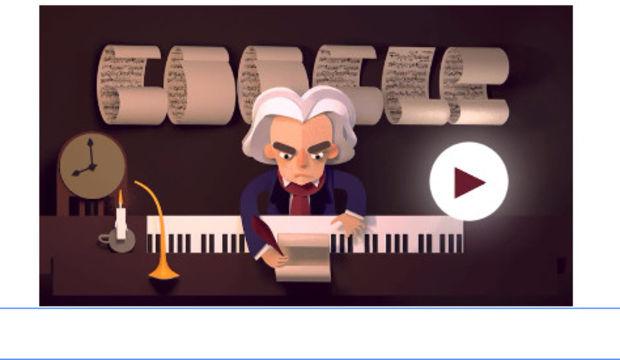 Ludwig van Beethoven doodle oldu!