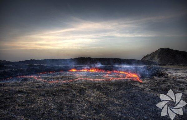 Afar Depression, Etiyopya Dünyadaki en tehlikeli volkanlardan biri. Burada bulunan lav derecesi depremlerde dünyanın sallanmasını etkileyecek oranda fazla.