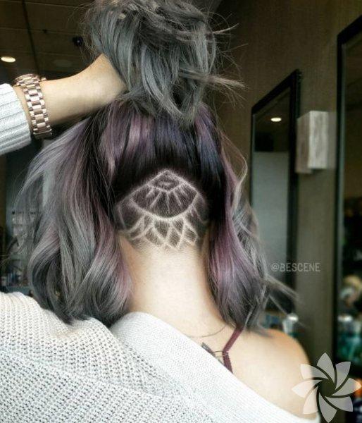 Undercut dövme adı verilen bu trend, ensedeki saçların istenilen motifte tıraşlanması ile elde ediliyor.