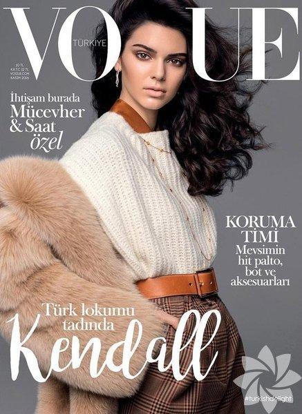 Dünyaca ünlü manken Kendall Jenner, Vogue Türkiye dergisine poz verdi.