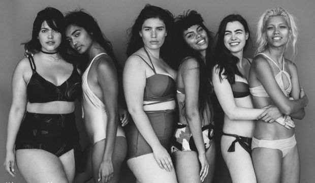 Eleştirilen modelden pozitif beden kampanyası