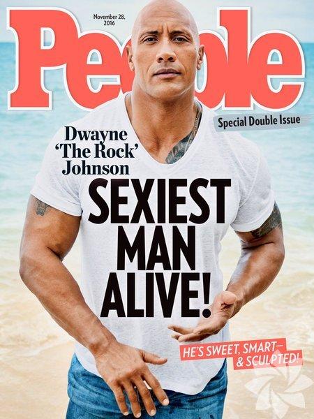 People Dergisinin her sene yaptığı 'Yaşayan En Seksi Erkek' anketinin birincisi Dwayne Johnson oldu.