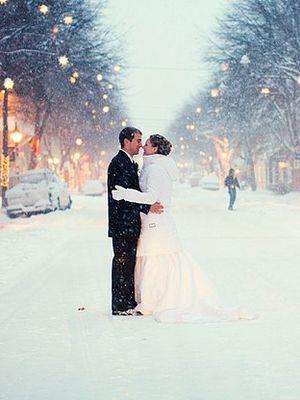 En güzel kış düğün fotoğrafları