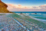 Rusya'da bir cam sahil