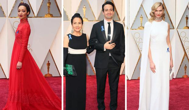 Oscar'da dikkat çeken ayrıntı: Mavi kurdele