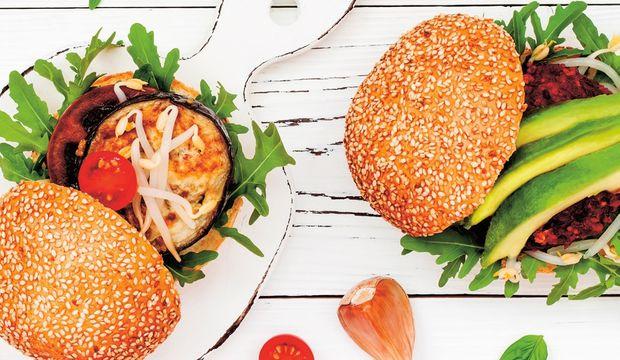 Yeşil hamburgerler