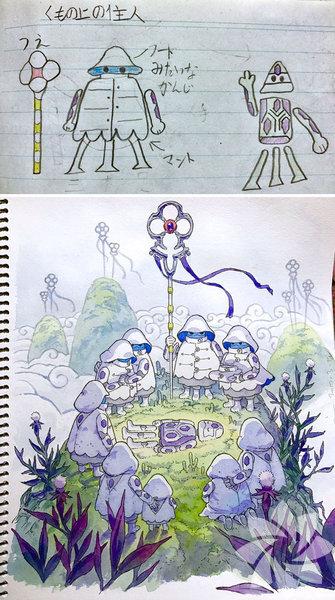 Tokyo'da yaşayan anime artistThomas Romain çocuklarının karalamalarını anime karakterlere dönüştürdü ve ortaya harika işler çıktı.