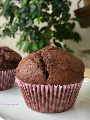 Kakaolu çikolatalı muffin