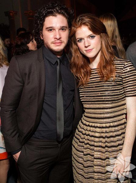 Kit Harington (Jon Snow) ve sevgilisi Rose Leslie (Ygritte)