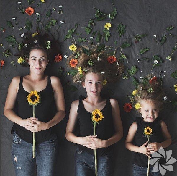Blogger ve Instagram fenomeni Dominique Davis, kızları Amelia ve Penny ile birlikte verdiği uyumlu pozlar ile tanınıyor.