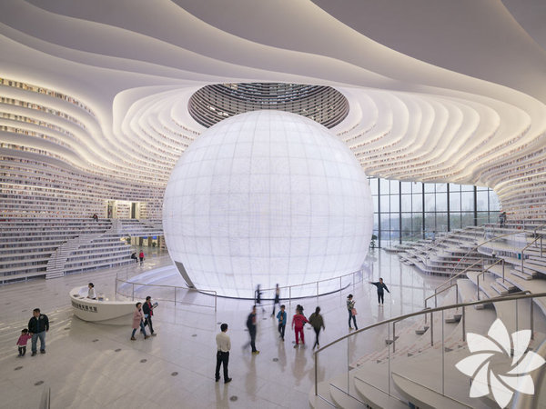 Dev bir gözün sembolize edildiği kütüphane daha önce eşine rastlanmamış bir mimari yapı.