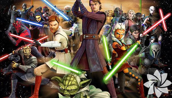 """10- Klon Savaşları 2008 (The Clone Wars) Hayranları sıralamalara dahil etmezler ama """"resmi bir Star Wars filmi"""" olarak sinema salonlarında gösterime girmiştir. Animasyon türündeki film, Bölüm II ile III arasında geçen üç yıllık dönemde ayrılıkçı bir droid ordusuna karşı küçük bir Cumhuriyetçi klon birliğini yöneten Anakin Skywalker ve Obi-Wan Kenobi'nin öyküsünü anlatır. Serinin en vasat filmidir."""