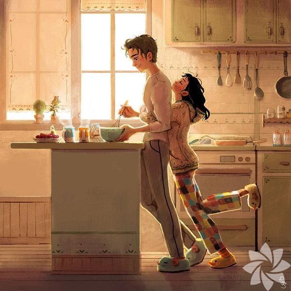 Uyanıp senin için kahvaltı hazırlıyorsa...