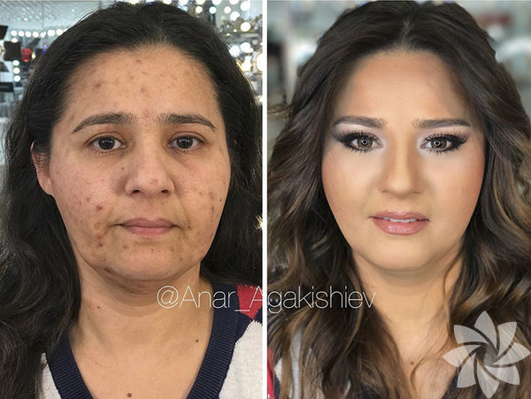 Makyajla değişen insanlar