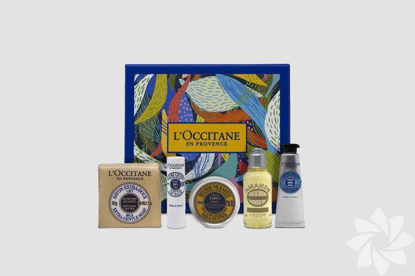 """L'Occitane Beauty Box İçerisinde, Shea Hand Cream 10 ml, Organik Shea Butter 10 gr, Almond Shower Oil 35 ml, Shea Milk Soap 50 gr, Shea Lip Balm 2 gr var. Üstelik bu üründen elde edilen gelir ise UNICEF Türkiye'nin """"Kız ve Erkek Çocuklar Arasında Eşitlik"""" programına bağışlanacak. Fiyat: 55 TL"""