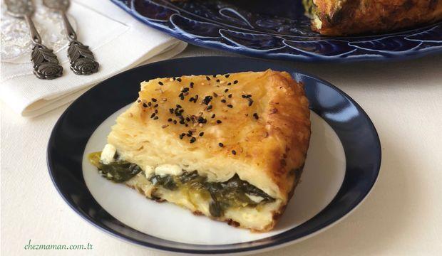 Çiriş otlu peynirli tava böreği