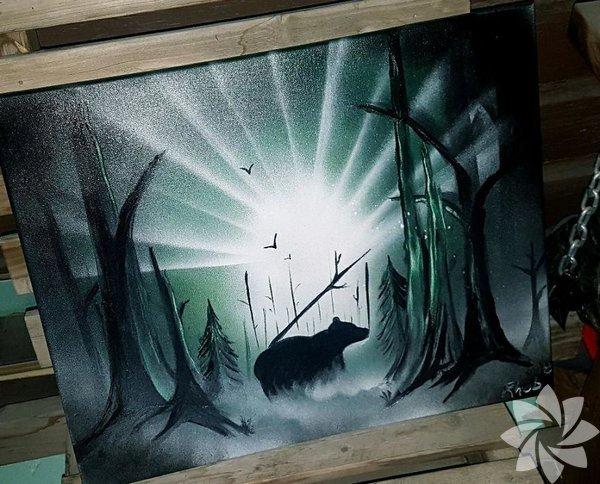 Sprey boya ile sanat!