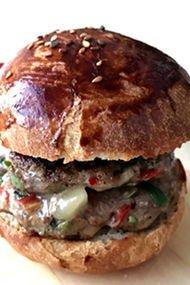 Taze otlu biberli hamburger