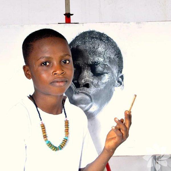 Çizdiği portrelerle büyüleyen bir çocuk: Ressam Waspa
