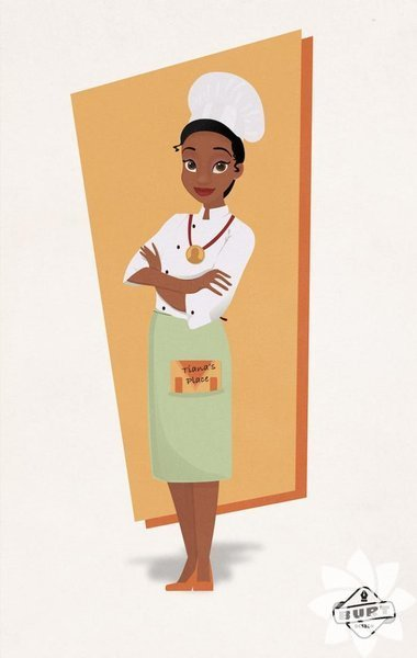Şef Tiana, mutfakta harikalar yaratıyor.