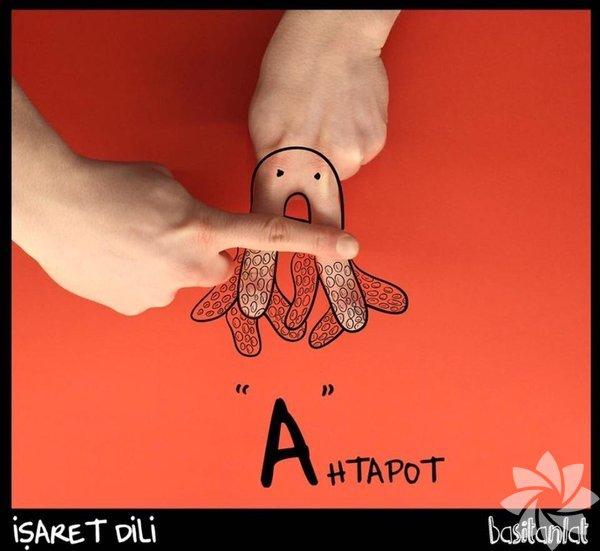 """İşaret dilinde """"A"""" harfinin gösterimi"""