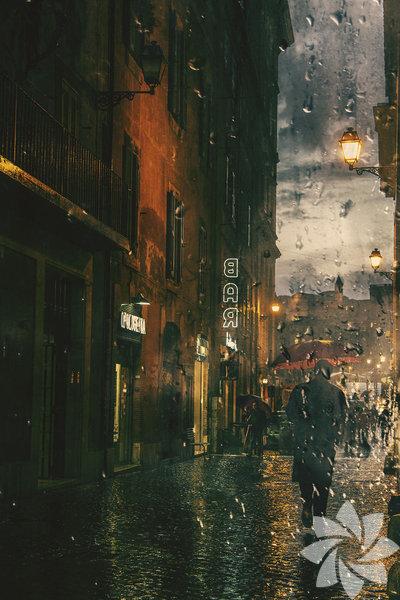 Yağmur damlaları fotoğrafa düşerse...