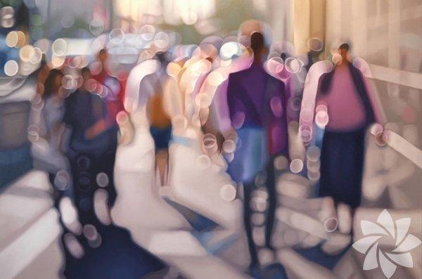 Miyop veya astigmatı olan insanların gözlüksüz çevrelerini nasıl gördüklerini sanatçı Philip Barlow çalışmalarıyla göstermiş.