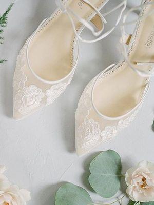 Trend: Çiçekli gelin ayakkabıları