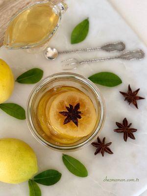Yıldız anasonlu limon reçeli