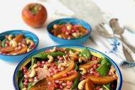 Cennet hurmalı körpe ıspanak salatası