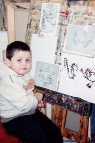 16 yaşındaki Dusan çizimleri ile büyülüyor