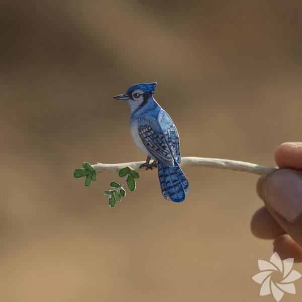Kağıttan minyatür kuşlar