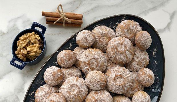 Yulaflı cevizli tarçınlı kurabiye
