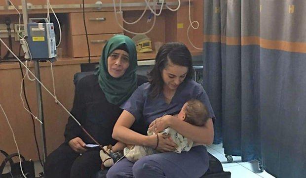 İsrailli kadın, Filistinli bebeği emzirdi