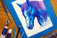 Rengarenk 30 hayvan portresi