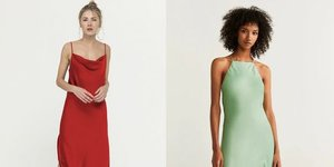 Rahat ve şık: Saten elbise