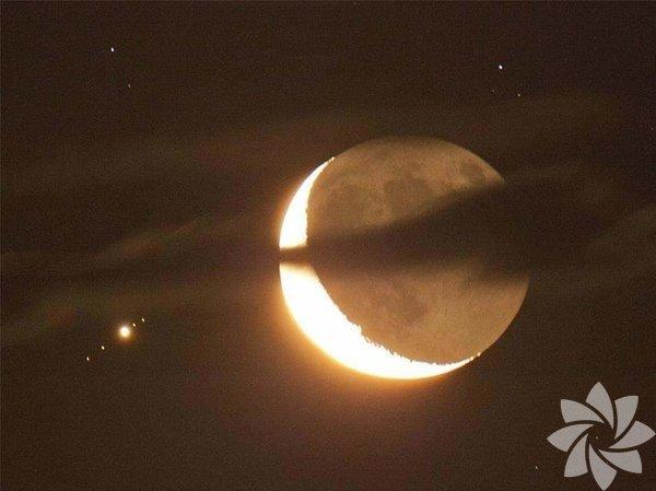 Ay ve Jüpiter'in yarattığı eşsiz görüntü