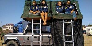 Kendi çadırlarını yapıp 20 gün gezdiler