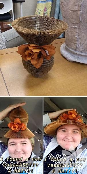 Vazo mu? Şapka mı?