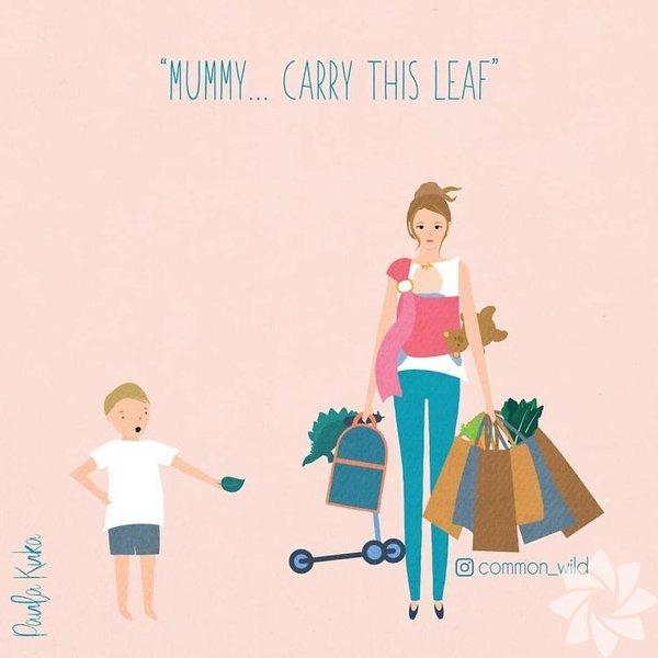 ''Anne... Şu yaprağı taşısana.''